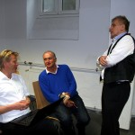 . Kern, Horst Dornheim und C.M. Hofbauer im Gespräch, 2012