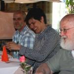 Herr Dehmel+Eva Reiser+Klaus Ammann beim Mittagessen, 2012.