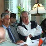 Dieter Mayer und Hans G. Weidinger beim Mittagessen, 2012.