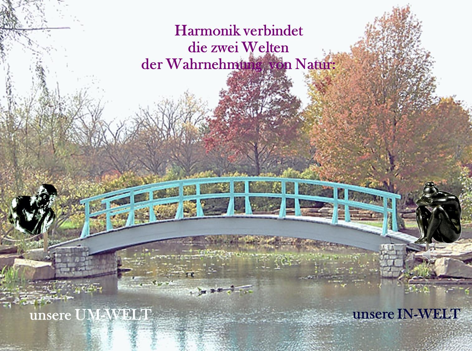 Harmonik verbindet Umwelt und Inwelt