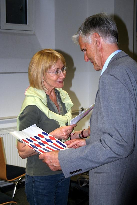 Gunther Pistor und Eva Reiser im Gespräch, 2012.