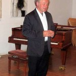 Johannes Kotschy bei seinem Vortrag: Musik mit Naturtönen 2015